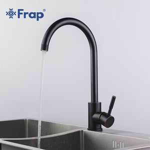 Frap black stainless steel Kitchen sink Faucet 360 Degree Swivel Single Handle Vessel Sink Vintage Kitchen Mixer Tap Yf40002
