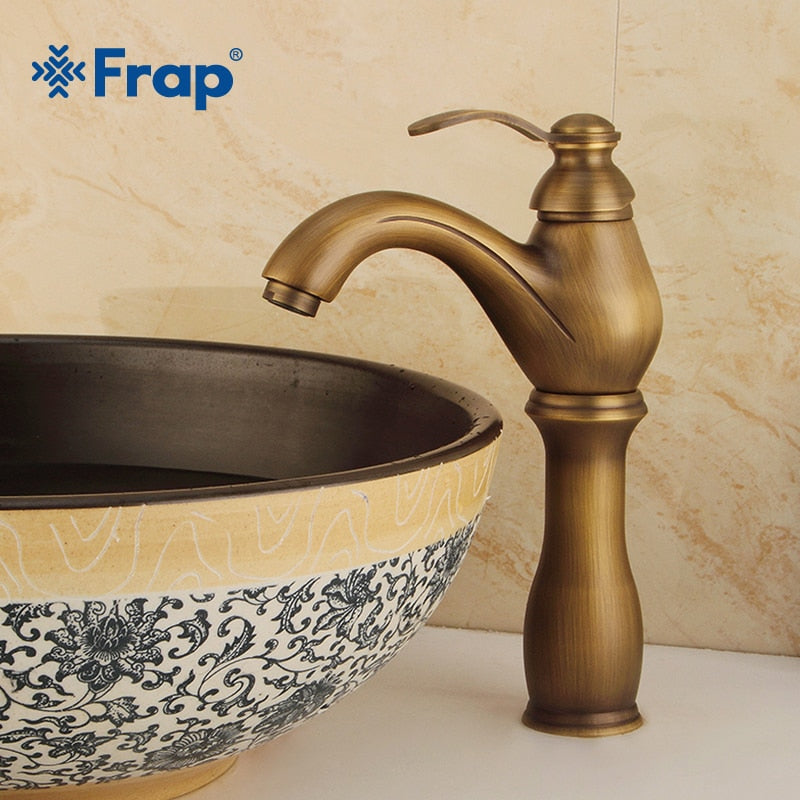 FRAP One Handle Brass Bathroom Faucet