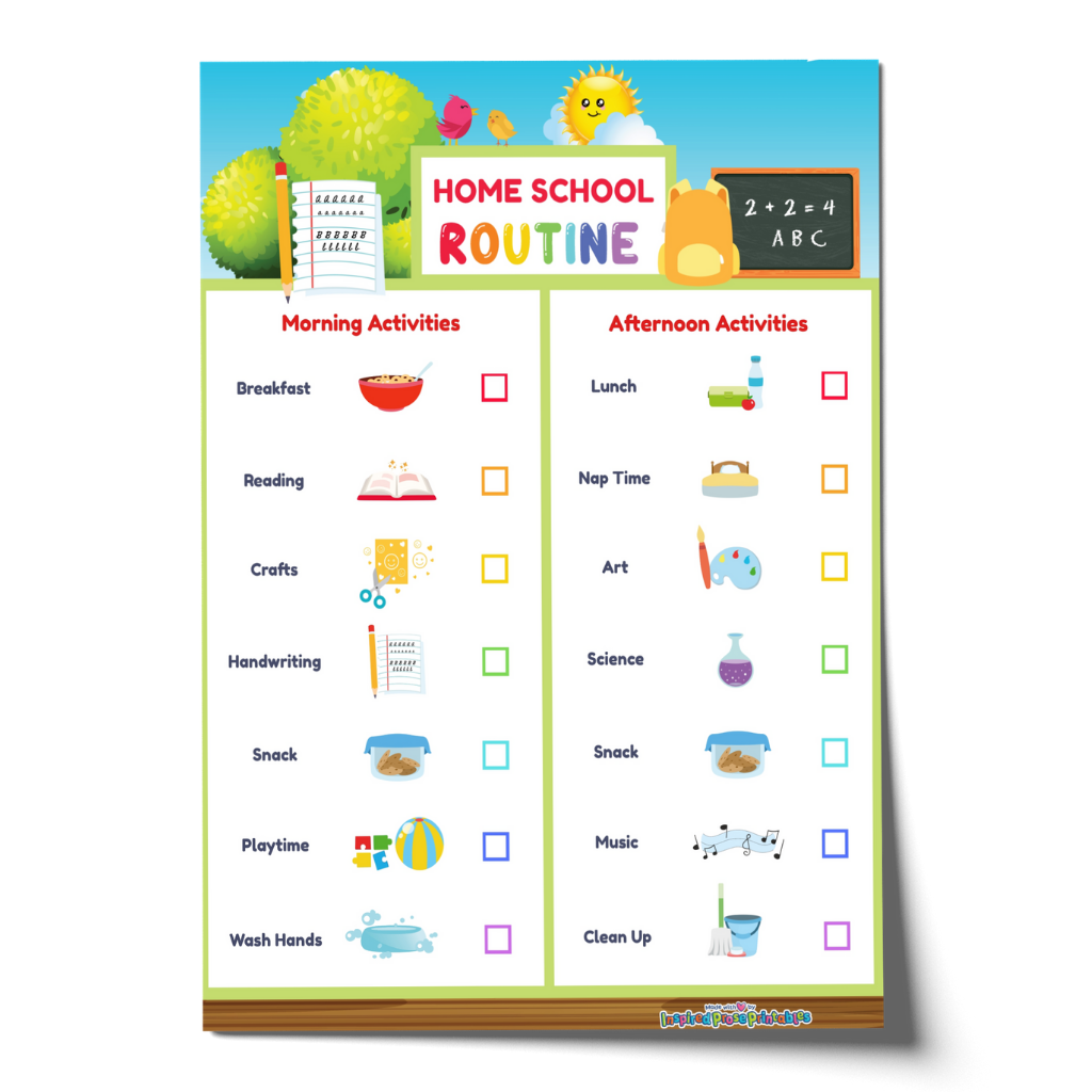 Editable Home School Schedule -Visual