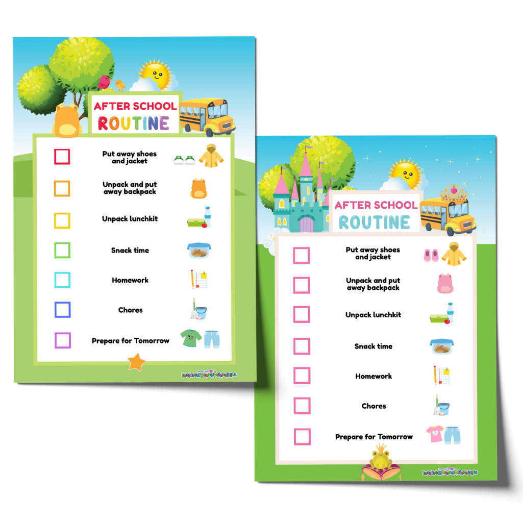 Editable After School Routine Chart Bundle