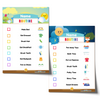 Editable Morning Bedtime Routine Chart Bundle - Blue Name