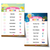 Editable Morning Bedtime Routine Chart Bundle - Pink Name
