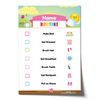 Editable Morning Routine Chart Checklist with Name - Pink