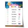 Editable Night Routine Chart Checklist with Name - Pink