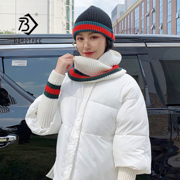 New Arrival Women Winter Solid Stand Collar Batwing Sleeve Oversize Jacket Cotton Padded Warm Short Parka & Scarf Female Outwear