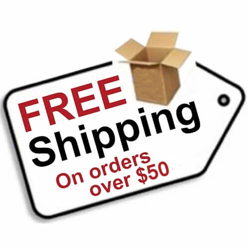 Free US Shipping On All Orders Over $50.00
