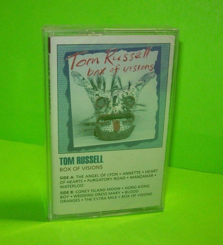 Tom Russell ‎ Box Of Visions 1992 Original SEALED Cassette Tape Country Folk - Post Punk Records