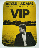 Bryan Adams Into The Fire VIP Backstage Rock Concert Pass Original Vintage NOS - Post Punk Records