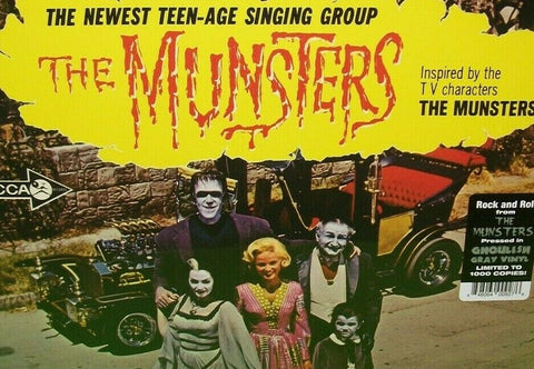 The Munsters Vinyl LP Record Album Halloween Surf Mod Monster Rock Gray Limited
