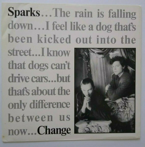 "Sparks Change Vinyl 12"" Record New Wave Synth-pop 1985 This Town Aint Big Enough"
