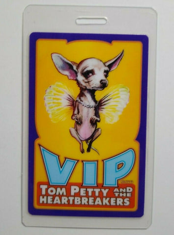 Tom Petty And The Heartbreakers VIP Backstage Pass Dogs Wings Tour Chihuahua '95