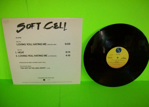 "Soft Cell Loving You Hating Me Vinyl 12"" Record Synth-Pop Promo Special Mix 1983"