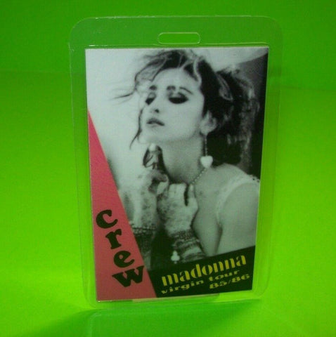 Madonna Like A Virgin Backstage Pass Original 1985 Concert Tour Crew Great Gift - Post Punk Records