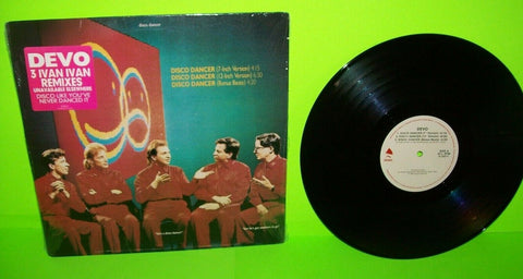 "Devo Disco Dancer Vinyl 12"" EP Record Synth-Pop New Wave NM 1988 Hype Sticker"