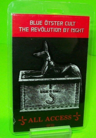 Blue Oyster Cult Revolution By Night Tour Backstage Pass Original 1983 Hard Rock