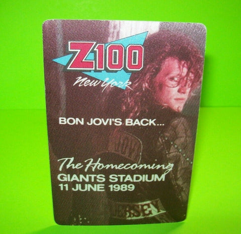 Bon Jovi Giants Stadium Homecoming Tour Back Stage Pass Original 1989 Otto