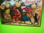 Halloween Postcard Tucks Original Vintage Series 160 Devils Parade Embossed Goth - Post Punk Records