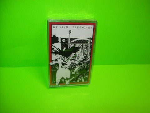 He Said Take Care SEALED Cassette Tape Album 1989 New Wave Synth Post-Punk Wire - Post Punk Records