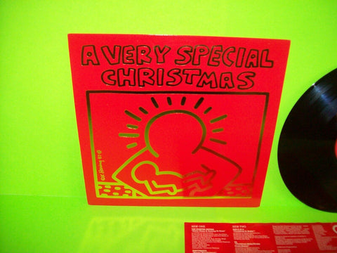A Very Special Christmas 1987 Vinyl LP Record Holiday Music NM Keith Haring Art