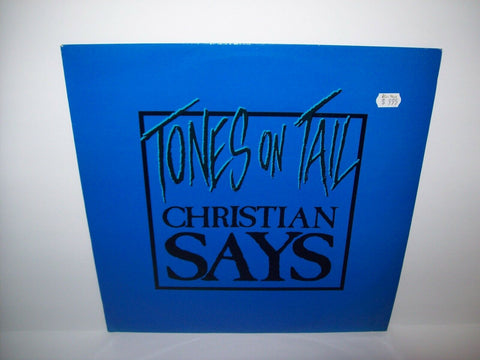 "Tones On Tail Christian Says BLUE Colored Vinyl 12"" Record Goth Post-Punk UK - Post Punk Records"