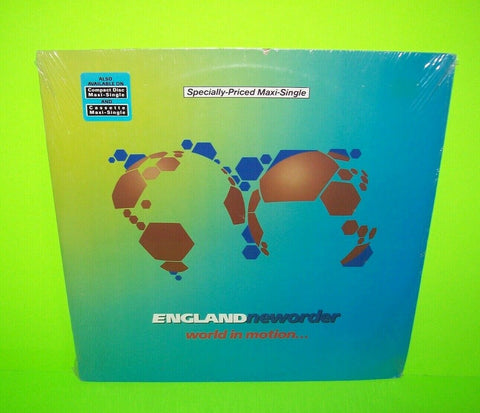 "New Order SEALED World In Motion 1990 Vinyl 12"" EP Record Electronic Synth-Pop"