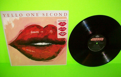 Yello ‎One Second Vinyl LP Record Album OH YEAH Hype Sticker Promo Synth-Pop