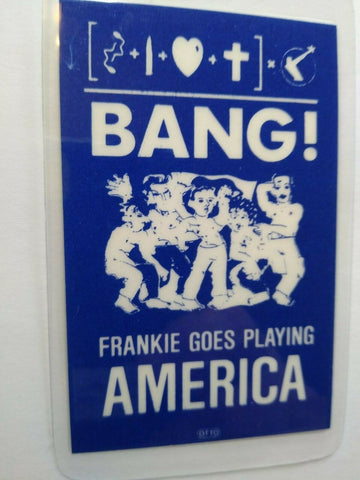 Frankie Goes To Hollywood Bang Backstage Pass 1985 New Wave Synth-Pop Rock Gift - Post Punk Records