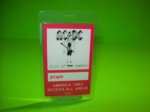 AC/DC Flick Of The Switch Backstage Pass Original Otto Hard Rock Music Gift 1983 - Post Punk Records