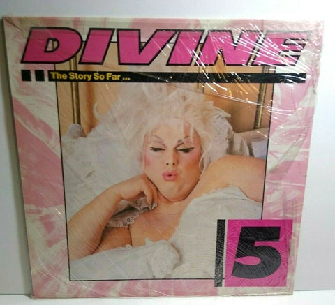 Divine The Story So Far 1987 Vinyl LP Record With FLYER Drag Queen Synth-Pop NM - Post Punk Records