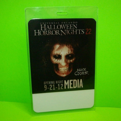 Alice Cooper Halloween Horror Nights 22 Haunted House Attraction Backstage Pass - Post Punk Records