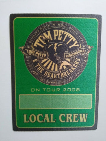 Tom Petty And The Heartbreakers Backstage Pass Original Rock Music 2008 Green