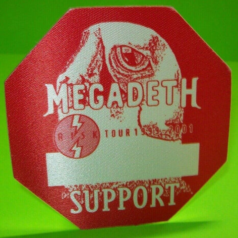 Megadeth Risk Concert World Tour Back Stage Pass Original 1999 Otto Heavy Metal - Post Punk Records