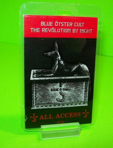 Blue Oyster Cult Revolution By Night Tour Back Stage Pass Original Otto 1983 NOS