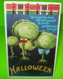 Vintage Halloween Greetings Postcard Ellen Clapsaddle Cabbage Human Faces 978