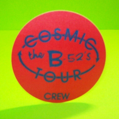 The B-52's Cosmic Thing Backstage Pass Original Otto 1989 Concert Tour New Wave