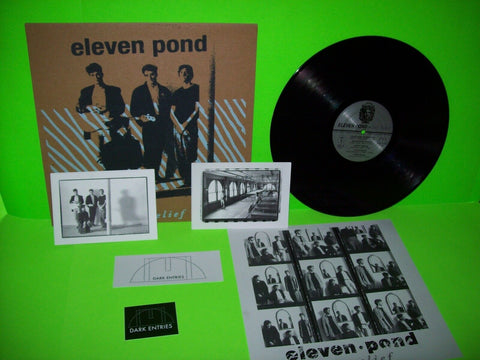 Eleven Pond ‎Bas Relief Vinyl LP Record Synth-Pop Post-Punk Limited Ed Numbered