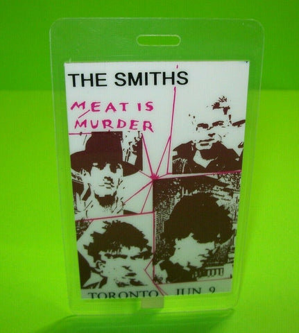 The Smiths Meat Is Murder Backstage Pass Original 1985 Concert Tour Morrissey