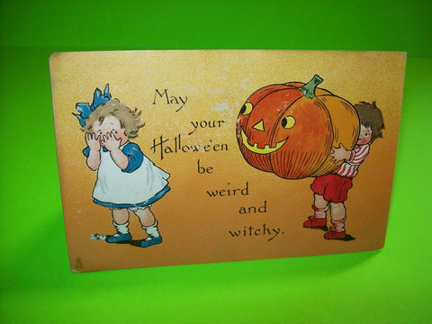 Vintage Halloween Postcard Tucks Original Series 188 Weird And Witchy Antique - Post Punk Records