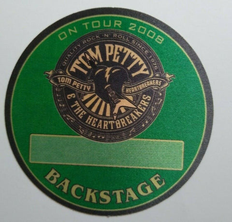 Tom Petty And The Heartbreakers Backstage Pass Original Rock Music 2008 Round