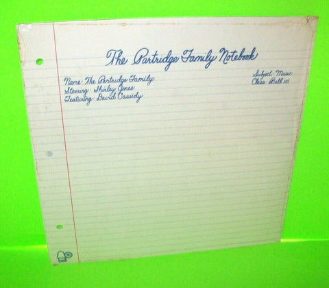 The Partridge Family Notebook LP Shirley Jones David Cassidy SEALED Vinyl Album - Post Punk Records