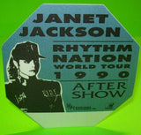 Janet Jackson Rhythm Nation Concert World Tour Backstage Pass Original Sexy Gift - Post Punk Records