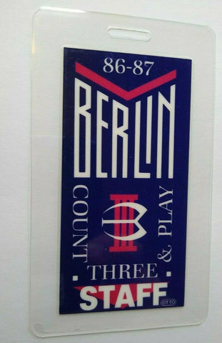Berlin Count Three & Play Backstage Pass 1986 New Wave Synth-Pop Gift Terri Nunn - Post Punk Records