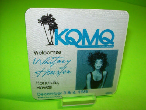 Whitney Houston KQMQ Souvenir Backstage Pass Otto Concert Tour Honolulu Hawaii - Post Punk Records