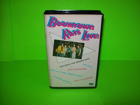 The Boomtown Rats Live Hammersmith Odeon 1980 VHS Video Tape PAL New Wave Punk - Post Punk Records