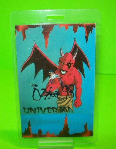 Ozzfest BackStage Pass Original Laminated 1998 NOS Heavy Metal Ozzy Red Devil - Post Punk Records