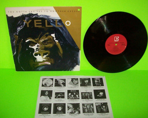Yello ‎You Gotta Say Yes To Another Excess Vinyl LP Record I Love You Synth-Pop