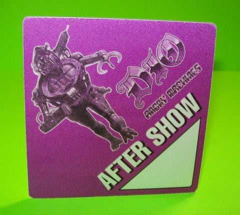 Dio Backstage Pass Original Otto 1996 Concert Tour Heavy Metal Angry Machines