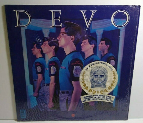 "Devo New Traditionalists Vinyl LP Record Album New Wave + POSTER 7"" HYPE Sticker - Post Punk Records"