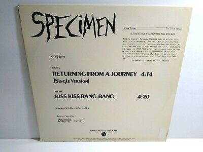 The Specimen Returning From A Journey Kiss Kiss Bang Bang Gothic Post-Punk Promo