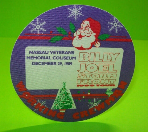 Billy Joel Storm Front Tour Backstage Pass Santa Christmas Original 1990 Crew